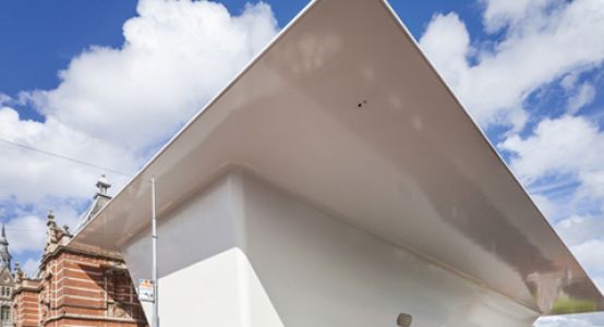 Holland-Composites-composite-facade-wallpanel-structure-building-Stedelijk-Museum-sidewall-overhang