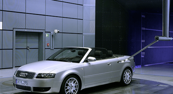 Audi-windtunnel-composite-sensor-arm-manufacturer-holland-composites-lightweight