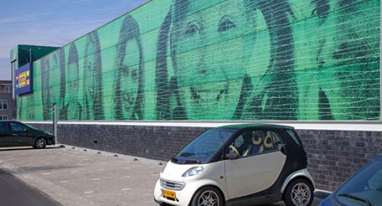 Holland-Composites-composiet-gevel-met-fotoprint-gevelbekleding-van-composiet-photoprint-facade-fassade-cladding-wallpanel-winkelcentrum-Klazienaveen