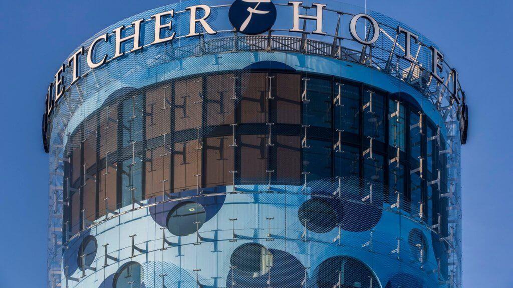 Composiet gevel fletcher hotel amsterdam holland composites