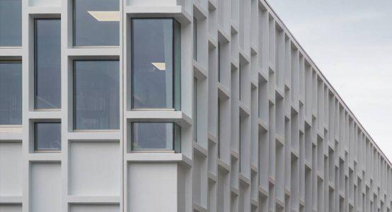Aardbevingsbestendige composiet gevel, Wiebenga-complex Hanzehogeschool Groningen