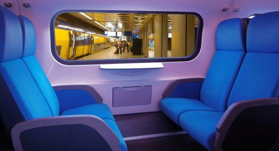 Voorbeeld treininterieur - uitgevoerd in composiet