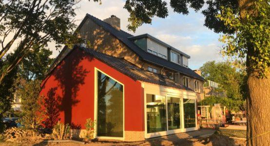 Uitbouw van Duplicor biobased brandwerend composiet - particuliere woning in Harderwijk