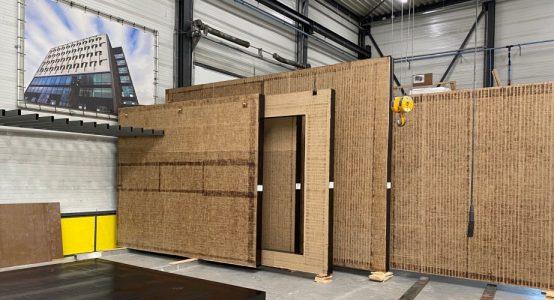 Wandelementen van Duplicor biobased brandwerend composiet - voor een uitbouw van een particuliere woning in Nieuwegein